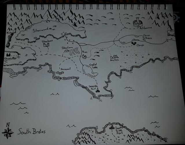 South Bretas Karte